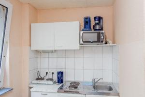 Küche einer Unterkunft in Dormtund Nähe Borisgplatz