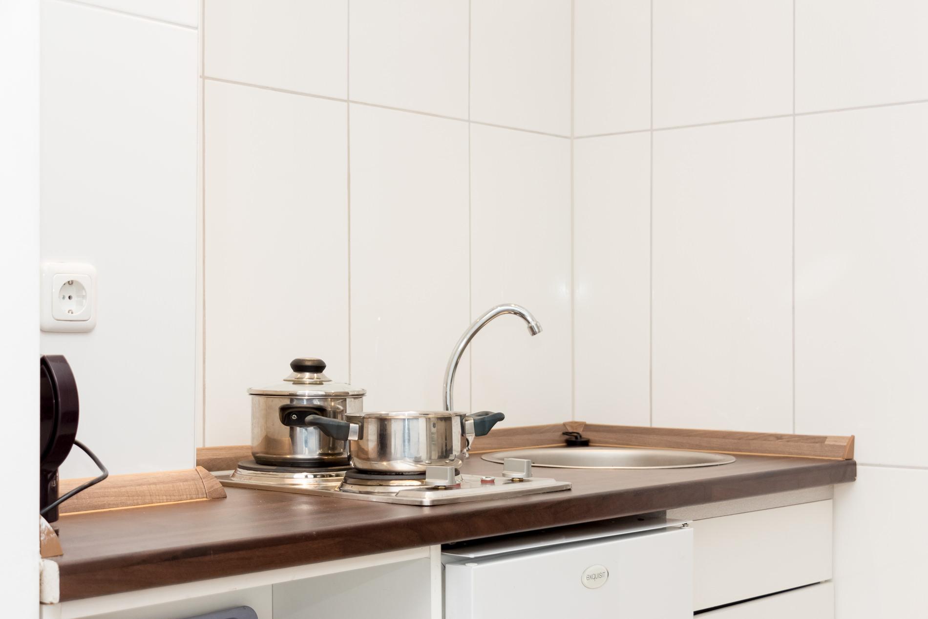 Küchenzeile in Monteurzimmer für 2 Personen